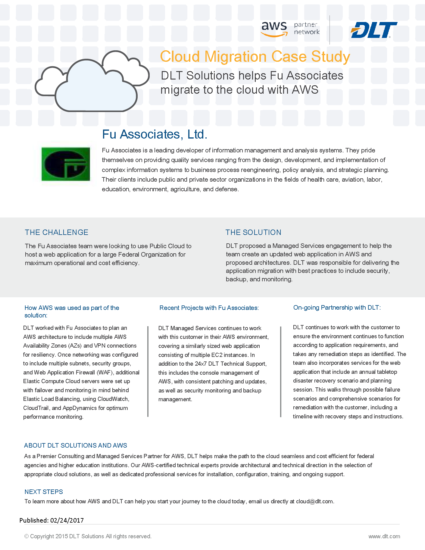 Fu Associates Case Study for Web Hosting – DLT Operations Center
